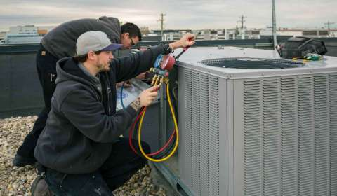 Testing an air conditioner unit