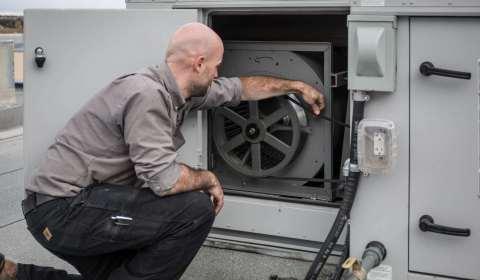 HVAC maintenance service check - fan belt